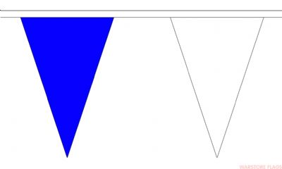 BLUE & WHITE TRIANGULAR BUNTING - 20 METRES 54 FLAGS